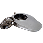 Bed Pans Male Slipper with cover, Stainless Steel