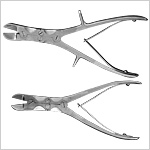 Bone cutting Forceps (Double Action) Straight & Curved