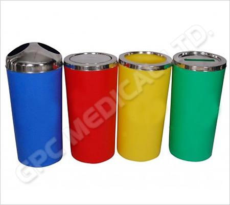 Colour Coded Plastic Dustbin 60L