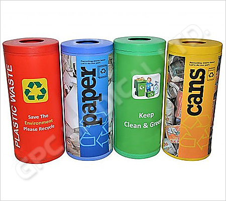 Colour Coded Recycle Bin 72L