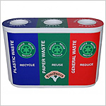Colour Coded Recycle Bin Trio