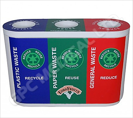 Colour Coded Recycle Bin Trio