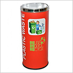 Coloured Recycle Bin Steel 86L