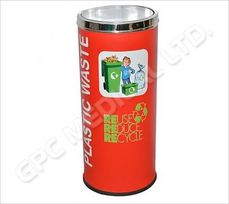 Coloured Recycle Bin Steel 86L