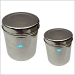 Dressing Jars with cover, Stainless Steel