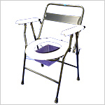 Folding Commode Chair With Back