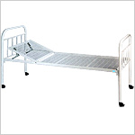 Hospital Bed with Bars and Backrest