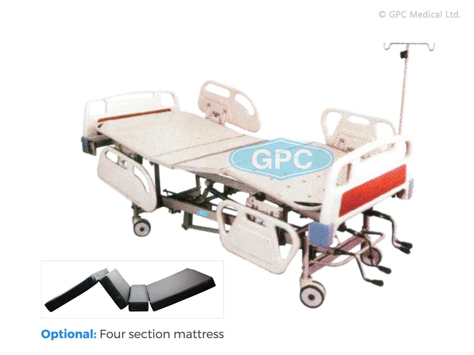 ICU Bed-Mechanical with ABS Panels & Side Railings