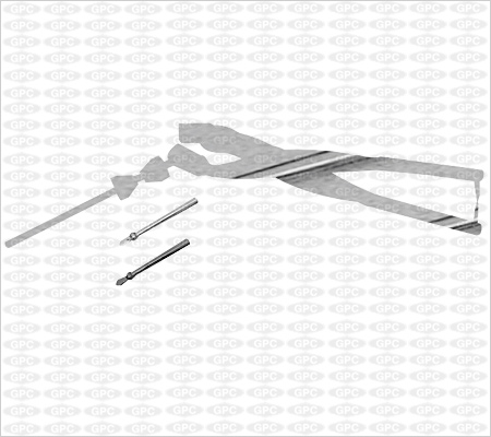 Crutch-Field Tong with two Burrs Large, Medium, Small (Deluxe Model)