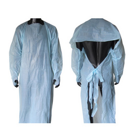 Medical Waterproof CPE Gown with Long Sleeves