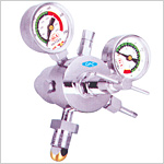 Oxygen Double Gauge Regulator, Single Stage