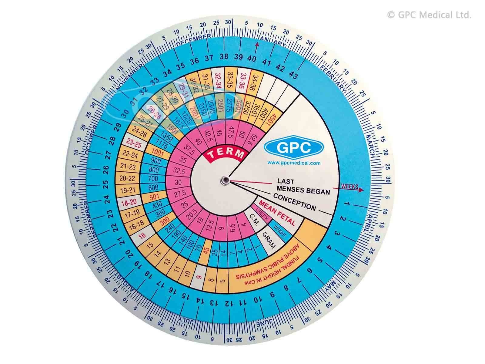 Pregnancy Calculator/Gestational Wheel Manufacturer ...