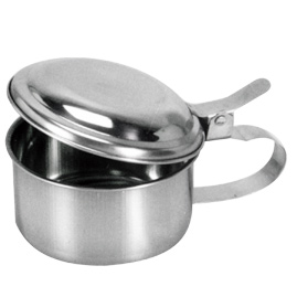 Sputum Mugs with cover, Stainless Steel
