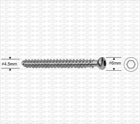 Cannulated Cancellous Screw 4.5mm, Fully Threaded, Hexagonal Socket
