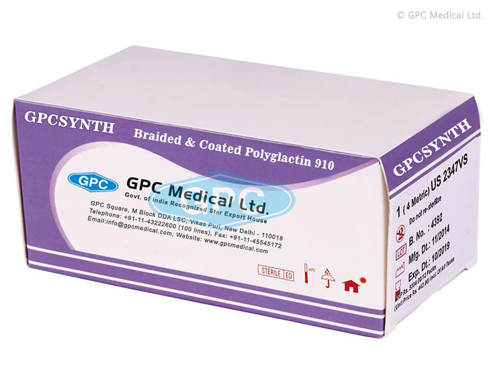 GPCSYNTH - Braided & Coated Polyglactin 910