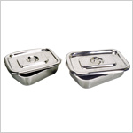 Surgical/Instrument Trays with cover, Stainless Steel
